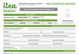 Ficha de inscripción Año Académico - visado J1