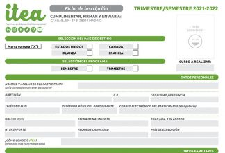 Ficha de inscripción trimestre/semestre