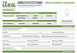 Ficha de inscripción general Año Académico